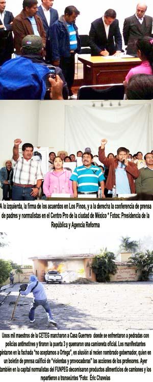 Destruyen puerta de Casa Guerrero y repudian a Rogelio Ortega
