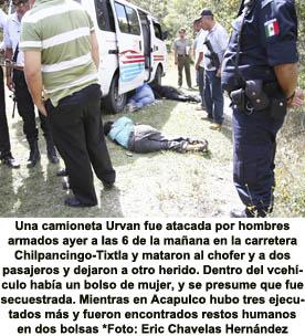 Hay 10 mil federales y sigue la violencia en Guerrero