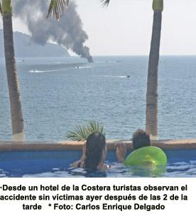 Se incendia un yate particular frente a El Morro